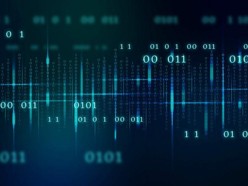 Stream of binary code design vector
